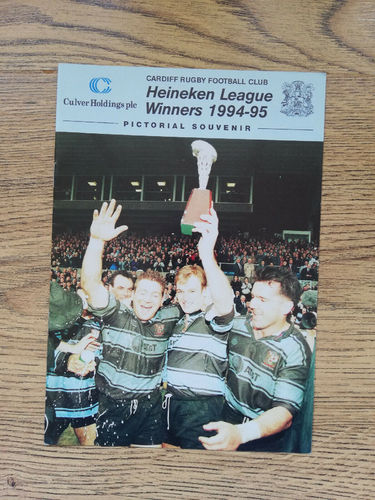 Cardiff Heineken League Winners 1994-1995 Pictorial Souvenir Rugby Brochure