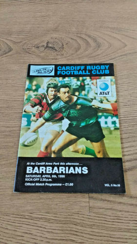 Cardiff v Barbarians Apr 1996 Rugby Programme