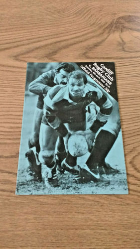 Cardiff v Barbarians Apr 1985 Rugby Programme