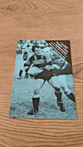 Cardiff v Barbarians Mar 1986 Rugby Programme