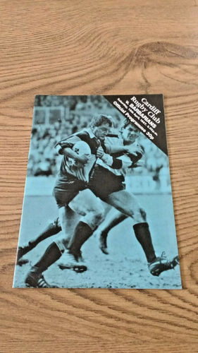 Cardiff v Barbarians Apr 1987 Rugby Programme
