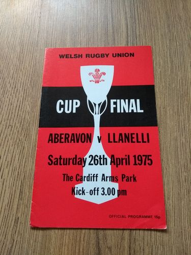 Aberavon v Llanelli Apr 1975 Welsh Cup Final
