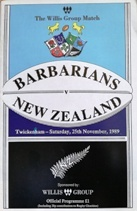 Barbarians International teams Rugby Programmes - Rugbyreplay