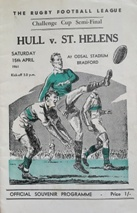 Rugby League Programmes - Cup Semi Finals
