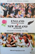 New Zealand Tour Rugby Programmes - Rugbyreplay